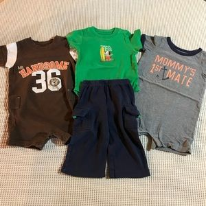 CARTER'S Summertime 12 mo baby boy outfit bundle
